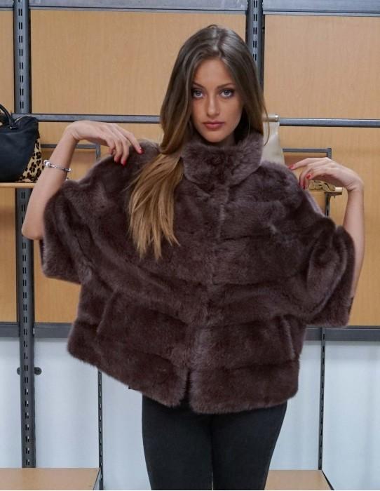 jacket horizontal mink fur color onion slim