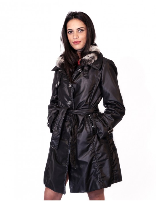 JACKET BLACK JACKET WITH DETACHABLE Collettino REX EDGED IN PAINT 57