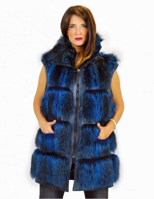 48 Soft blue marmot skin coated with leather сурка мех Murmeltierfell pelliccia marmotta