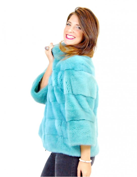 46 Horizontal green mink jacket water high pelliccia visone pelz nerz норка fourrure vison
