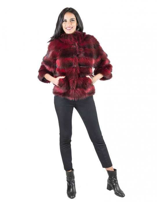 42 Red Long-sleeved marmot fur marmotta pelliccia Murmeltierfell сурка мех