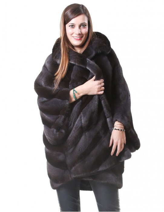 MINK FUR COAT WOMAN TO SKIN COLOR WHOLE PERU