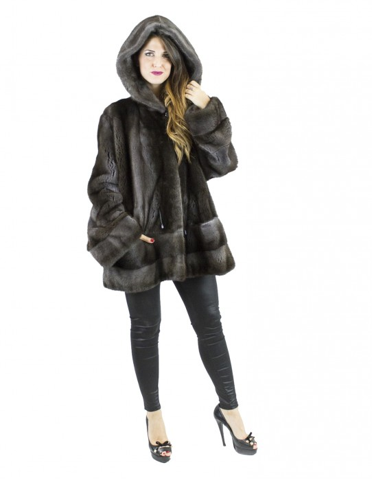 Mink Fur Braschi tg 54 color peruvian coat vison норка pelliccia visone Nerzpelzes fourrure