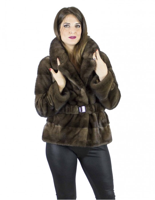44 Short-sleeved mink fur coat vison норка pelliccia visone Nerzpelzes fourrure