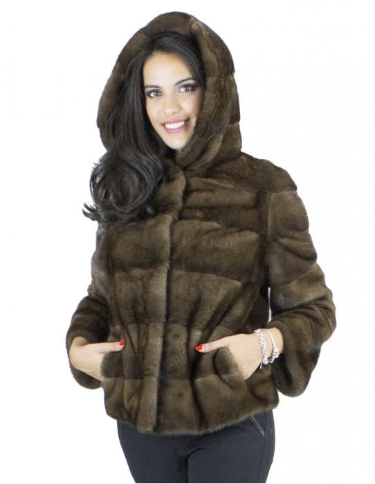 Куртка темно деми норки крышка 40 vison pelliccia visone fur mink Nerzpelzes fourrure