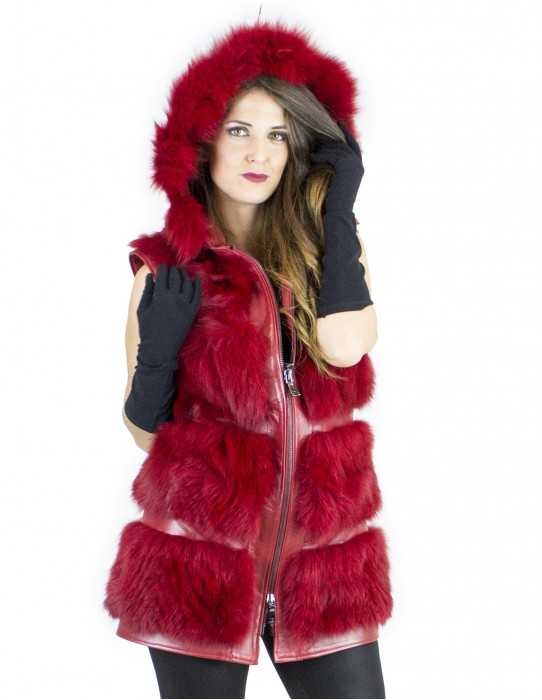 Vest red fox Kappengröße 44 fourrure renard fox fur лисицы pelliccia volpe