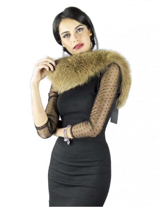 Воротник из натуральной бежевой лисицы Pelzkragen col fourrure 毛領 collo pelliccia fur collar