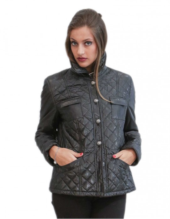 Jacket gloss anthracite gray jacket with buttons and buckles size 56