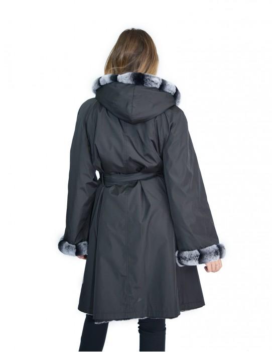 52 Fur Rex reversible coat with hood pelliccia rex pelz мех рекс fourrure