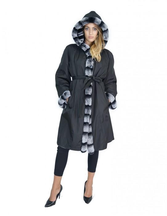 54 Fur Rex reversible coat with hood pelliccia rex pelz мех рекс fourrure