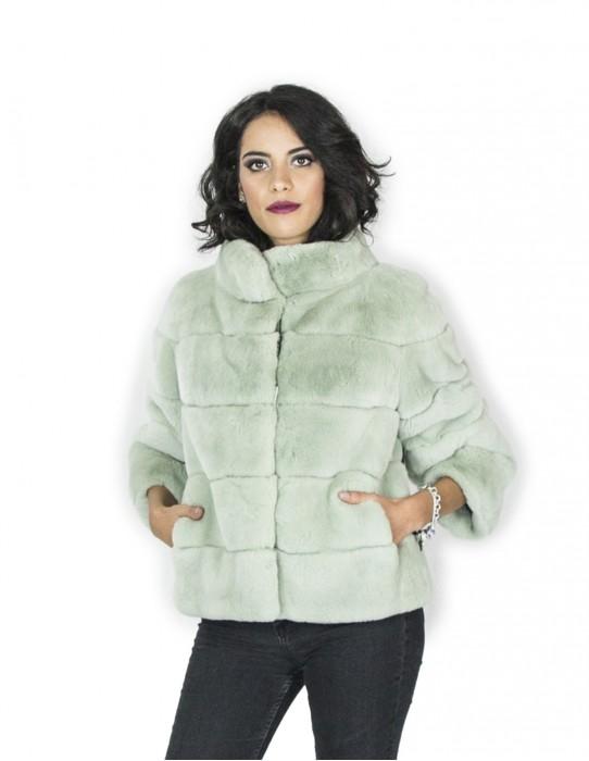 42 rex green cape jacket mandarin collar мех Pelz pelliccia fourrure 毛皮 فرو