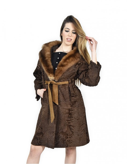 42 Persian brown fur with sable fur Pelz persian Перс neck