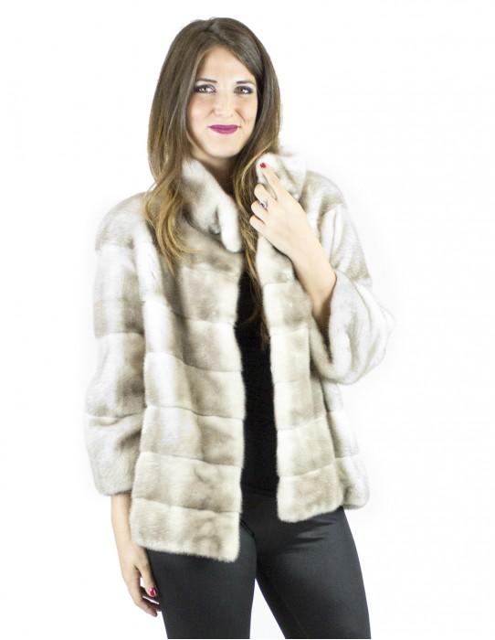 44 Jacket Korean ice mink fur collar fur mink vison норка Nerzpelzes fourrure
