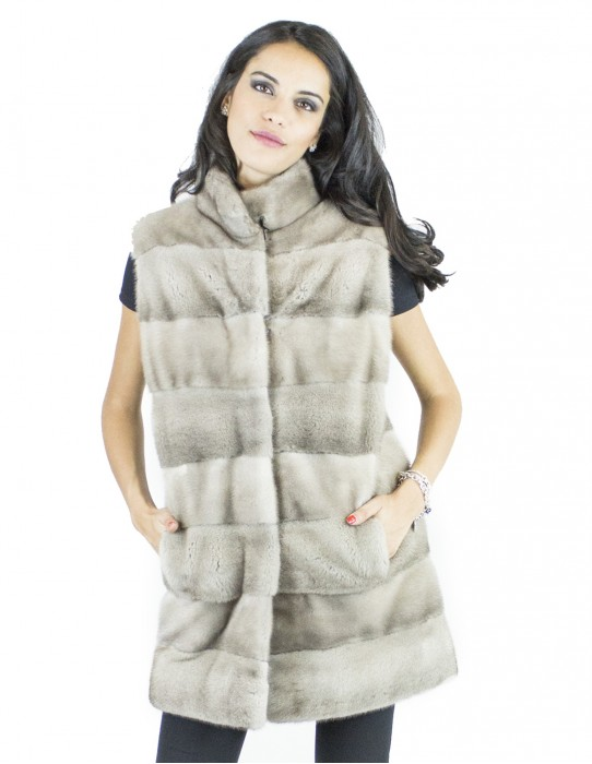 Ice Fur Vest Korean mink fur mink collar 44 vison норка Nerzpelzes fourrure