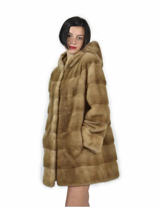 44 куртка 81 см цвета redglow норка горизонтального вся крышка кожи