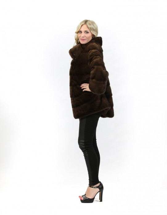 50 mink fur coat horizontally scanbrown braschi turtleneck