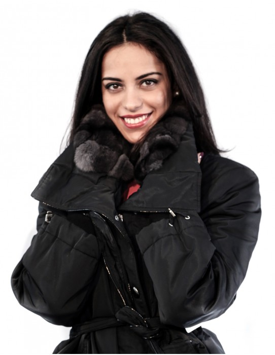 50 PUFFER JACKET WITH WIDE NECK DETACHABLE FABRIC AND REX