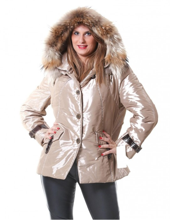51 FUR COAT JACKET MURMASKY WOMAN AT THE EDGE HOODED OVERSIZE